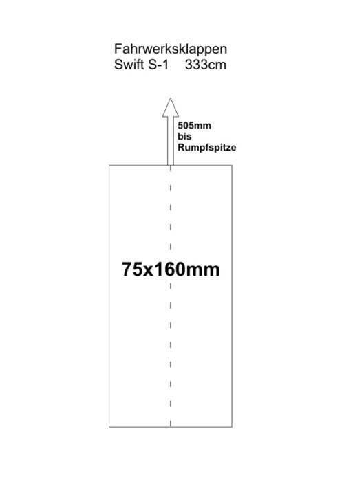 Fahrwerksklappen Swift S 1 333cm